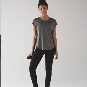 Lululemon Lost In Pace Short Sleeve Heathered Top